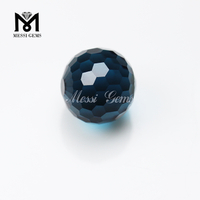 cheap factory gemstone blue glass beads