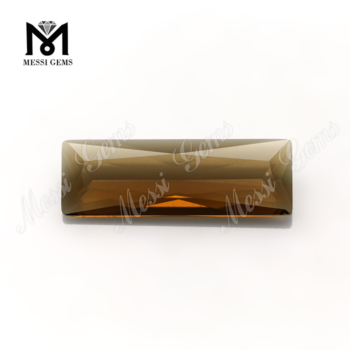 Rectangular Shape Coffee Color Crystal Cheap Glass Stones