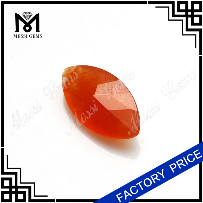 Chinese New Style Red MarquiseJade Gemstone Wholesale Natural Jade