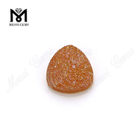 trillion cut amber color druzy stones wholesale