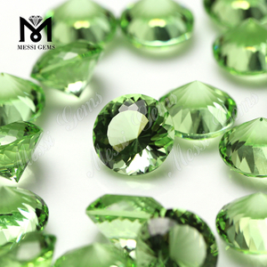 Wholesale price synthetic green tourmaline crystal glass stone