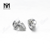 1carat pear cut def colorless moissanite diamond Wholesale price loose gemstone