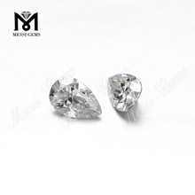 1carat pear cut def colorless moissanites Wholesale price loose gemstone