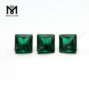 Hydrothermal Synthetic Loose Gemstone 6mm Square Created Emerald Stone