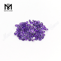 High quality 3*4 pear amethyst loose gemstone natural gems