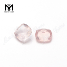 Good quality faceted 8mm cushion rose quartz natural gemstone