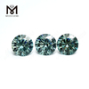 Loose moissanite diamond rough star cut 12mm green moissanite stone