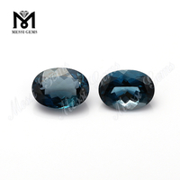 Natural oval cut topaz rough stones price per carat london blue topaz