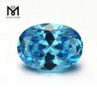 Factory price high quality oval cut 8x10mm loose gemstone cz cubic zirconia