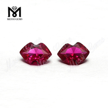 Wholesale factory price lip shape 4x6mm synthetic red ruby stone
