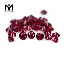 Round Brilliant Uncut 8# Red Corundum Gemstone Wholesale Ruby Stone