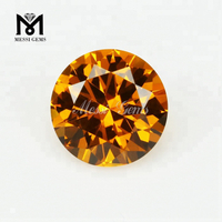 Silver Jewelry Use 172# Round 8.0mm Citrine Nano Gemstones