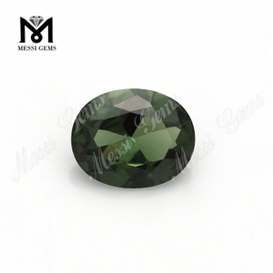 8x10mm Oval Machine Cut Synthetic Green Spinel Gemstone