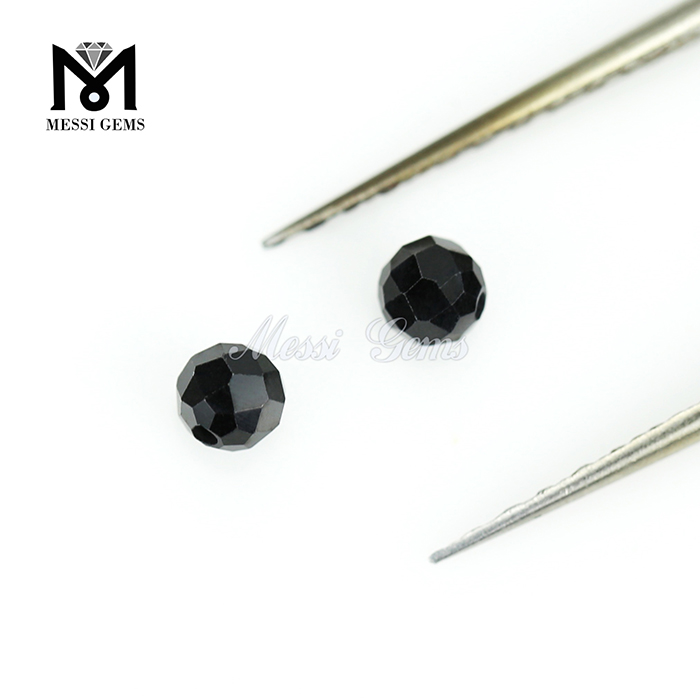 Fashion Jewelry Bead Loose Black Cheap Spinel Bead Gemstone