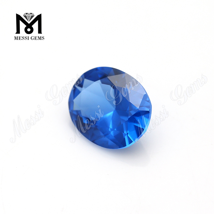 Oval Shape 9x11mm Machine Cut Synthetic 120# Blue Spinel Stone