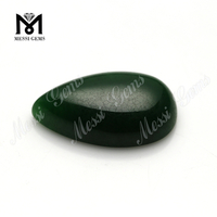 wholesale price pear shape 14x24mm green jade stone