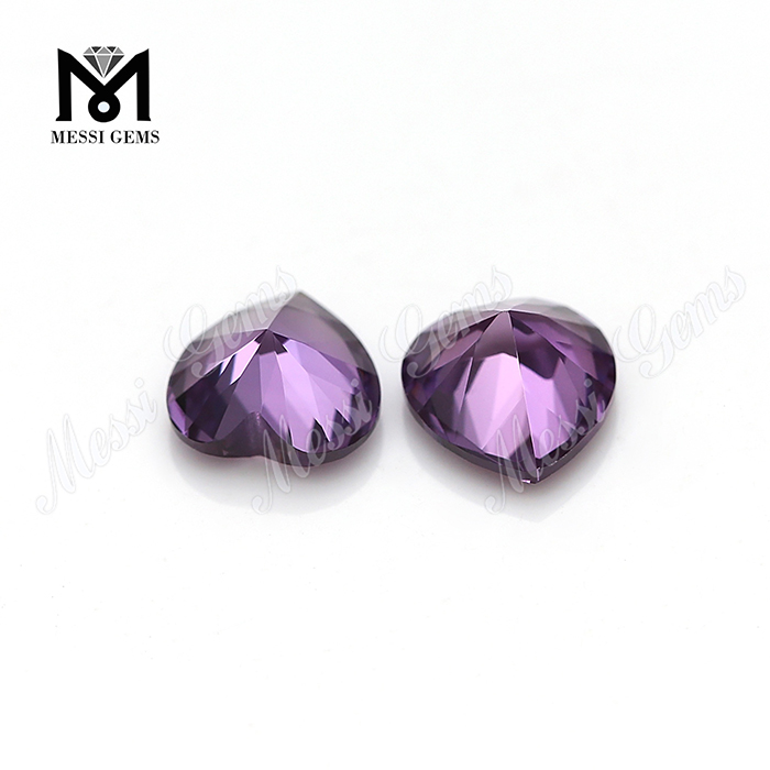 Heart cut synthetic alexandrite ruby gemstones color change corundum stones