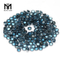 natural machine cut 3.0mm round london blue topaz stones