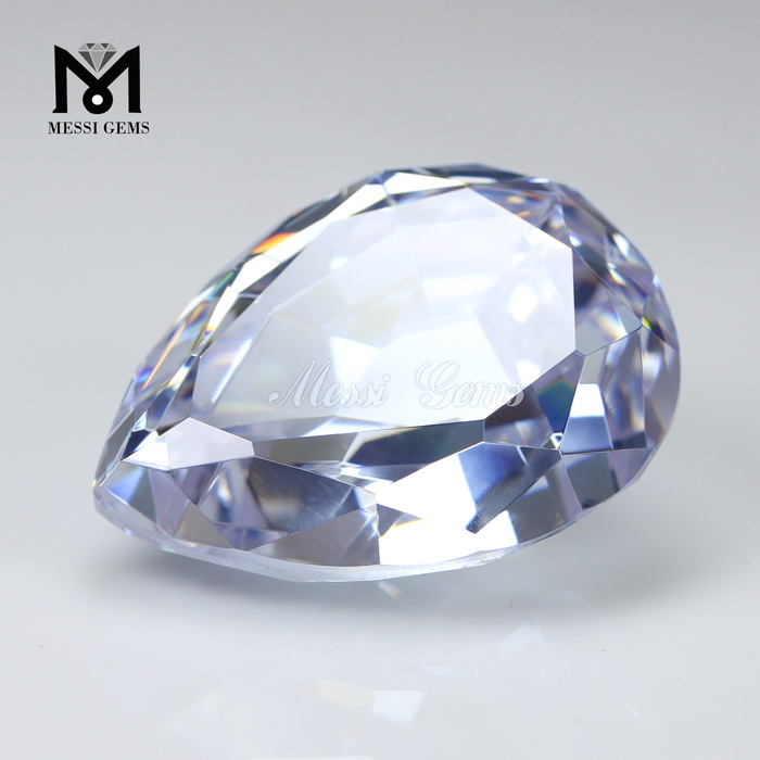 Wholesale CZ Stone Price Machine Cut Pear Shape Cubic Zirconia