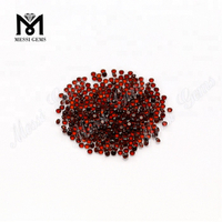 wholesale small size round brilliant cut red garnet natural gemstones