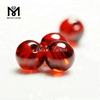 Factory price 7mm garnet cz ball with hole