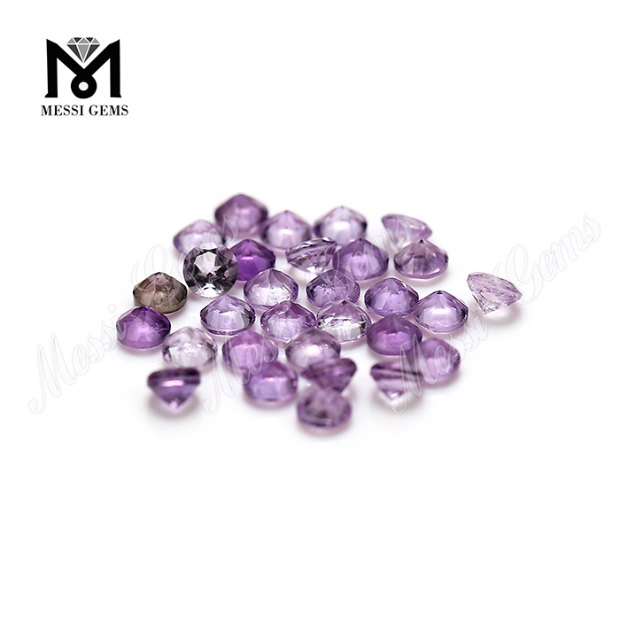 3.0mm round faceted natural amethyst loose stones from stock