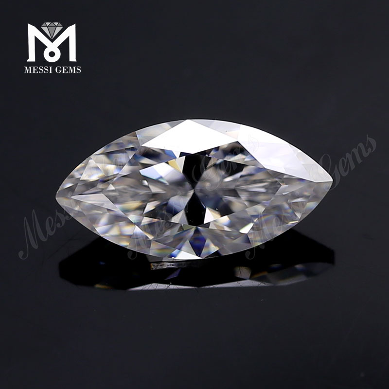 6x12mm Colorless Large VVS Marquise Moissanite