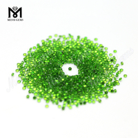 Wholesale Price Brilliant Cut 2.0mm Chrome Diopside Loose Gemstone Natural