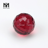 Wholesale Price Ruby Round Ball 12.0mm Faceted Glass Gems