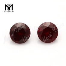 2mm round brilliant cut synthetic ruby stone prices loose 8# red ruby prices