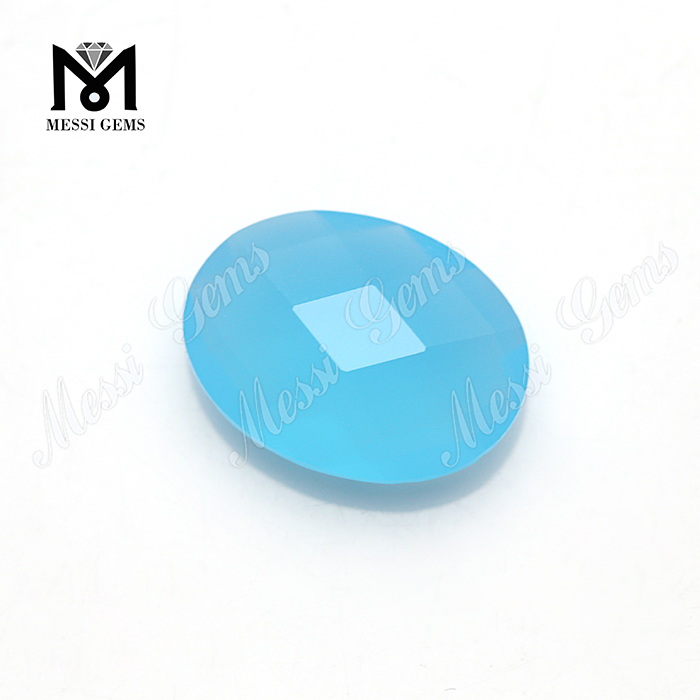 opal blue cushion shaped decorating glass stones