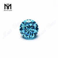 Top machine cut 1.0mm aqua blue cubic zircon