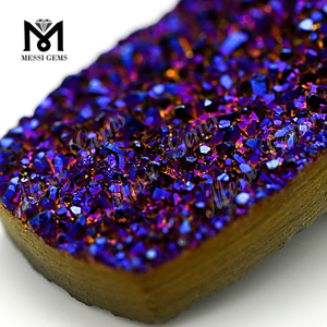 Large Stone 10X14MM Cushion Natural Amethyst Druzy Stones