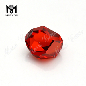 Fancy Shape 11 x 9.4 x 7mm Orange Cubic Zirconia Stone
