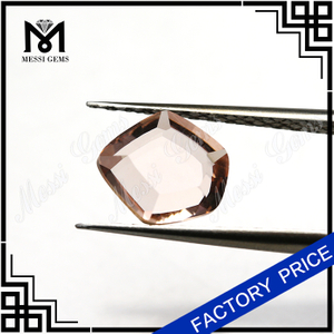wholesale morganite color faceted Axe cut glass stone