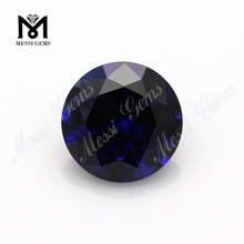 Wholesale 34# blue round shape 9mm corundum synthetic ruby