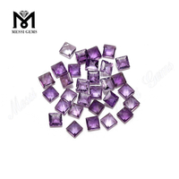 Chinese supply princess cut natural amethyst loose gemstones in cheap price