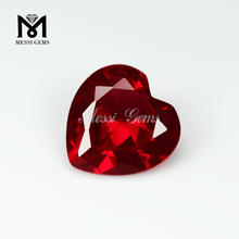 Loose Gemstone synthetic ruby heart shape factory ruby prices