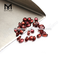 3 x 5 mm Oval Cut Natural Garnet