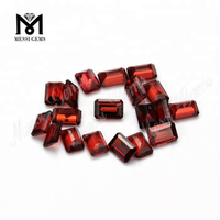 Wholesale 4*6mm Emerald Cut Natural Red Garnet Stone