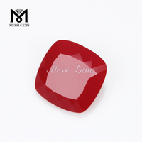 wholesale synthetic garnet cushion glass stone