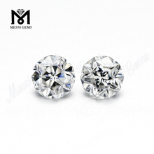 Synthetic Moissanite Stone Round Faceted Cut