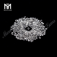 Loose 2.0mm White Crystal Round Hydrothermal Gemstone