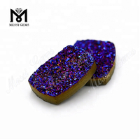 new products cushion cut amethyst druzy stone