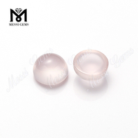 Round Cabochon Gemstones Loose Natural Rose Quartz Stones