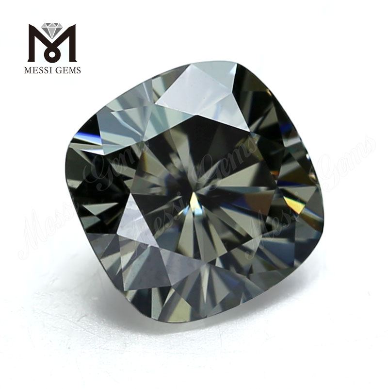 Wholesale synthetic diamond cushion cut gray moissanite loose