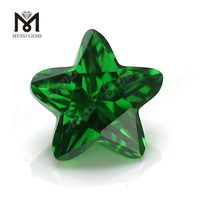 Synthetic Star Cut 9x9mm Green Cubic Zirconia CZ Gemstone Price