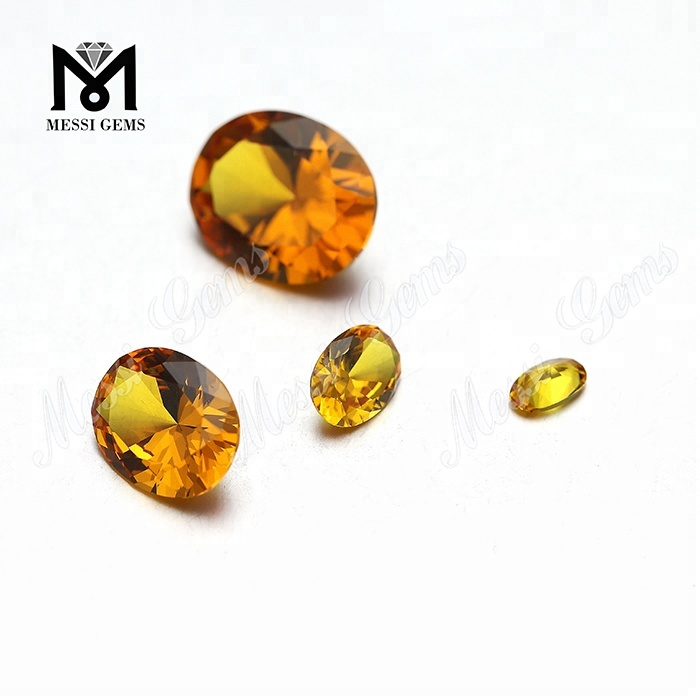 8x10mm Oval shape yellow nanosital stone