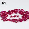 5 * 5 mm Star cut 5 # Ruby synthetic corundum
