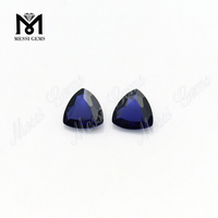 # 34 Triangle cut 8.0 mm lab grown sapphire blue corundum
